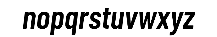 Barlow Condensed SemiBold Italic Font LOWERCASE