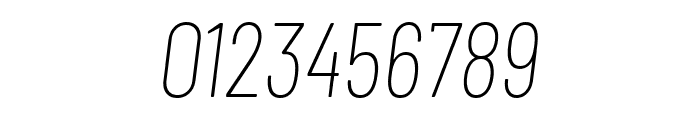 Barlow Condensed Thin Italic Font OTHER CHARS