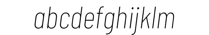 Barlow Condensed Thin Italic Font LOWERCASE
