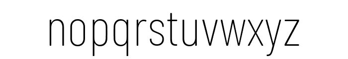 Barlow Condensed Thin Font LOWERCASE