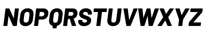 Barlow ExtraBold Italic Font UPPERCASE
