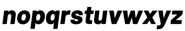 Barlow ExtraBold Italic Font LOWERCASE