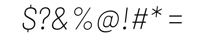 Barlow ExtraLight Italic Font OTHER CHARS