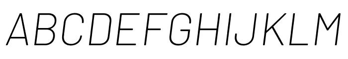 Barlow ExtraLight Italic Font UPPERCASE