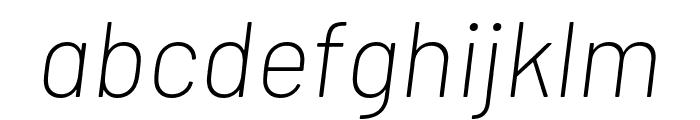 Barlow ExtraLight Italic Font LOWERCASE