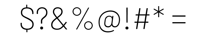 Barlow ExtraLight Font OTHER CHARS