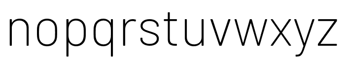 Barlow ExtraLight Font LOWERCASE