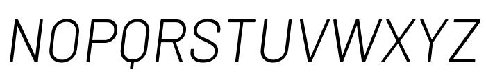 Barlow Light Italic Font UPPERCASE