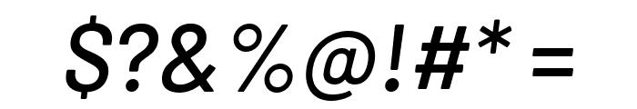 Barlow Medium Italic Font OTHER CHARS
