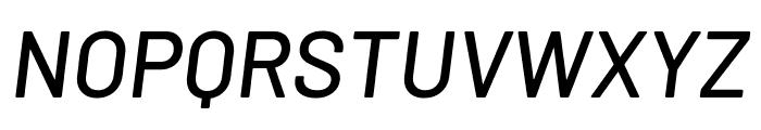 Barlow Medium Italic Font UPPERCASE