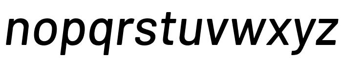 Barlow Medium Italic Font LOWERCASE