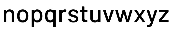 Barlow Medium Font LOWERCASE