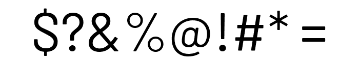 Barlow Regular Font OTHER CHARS