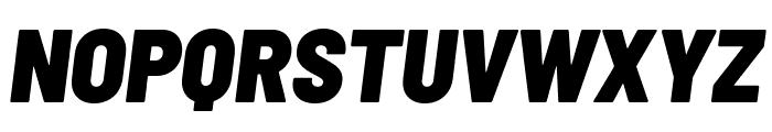Barlow Semi Condensed Black Italic Font UPPERCASE