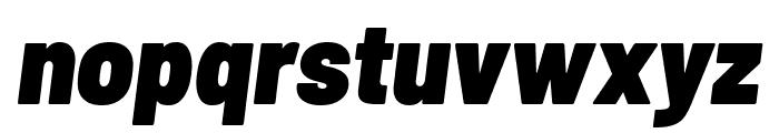Barlow Semi Condensed Black Italic Font LOWERCASE