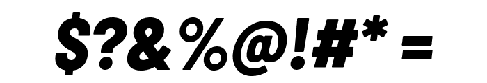Barlow Semi Condensed ExtraBold Italic Font OTHER CHARS