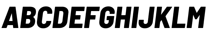 Barlow Semi Condensed ExtraBold Italic Font UPPERCASE