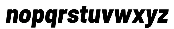 Barlow Semi Condensed ExtraBold Italic Font LOWERCASE
