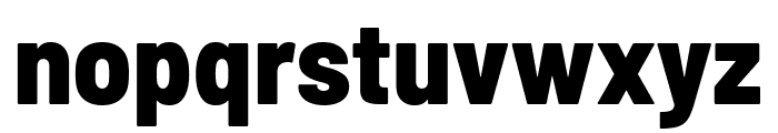 Barlow Semi Condensed ExtraBold Font LOWERCASE