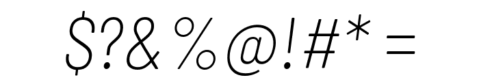 Barlow Semi Condensed ExtraLight Italic Font OTHER CHARS