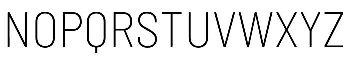 Barlow Semi Condensed ExtraLight Font UPPERCASE