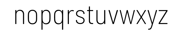 Barlow Semi Condensed ExtraLight Font LOWERCASE