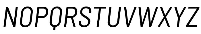 Barlow Semi Condensed Italic Font UPPERCASE