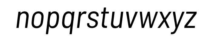 Barlow Semi Condensed Italic Font LOWERCASE