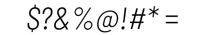Barlow Semi Condensed Light Italic Font OTHER CHARS