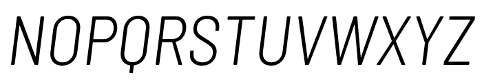 Barlow Semi Condensed Light Italic Font UPPERCASE