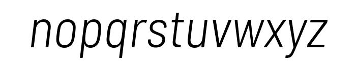 Barlow Semi Condensed Light Italic Font LOWERCASE