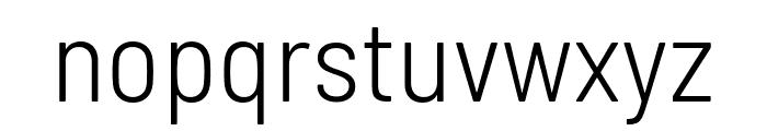 Barlow Semi Condensed Light Font LOWERCASE