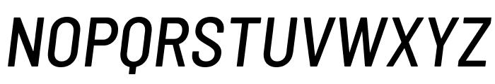 Barlow Semi Condensed Medium Italic Font UPPERCASE