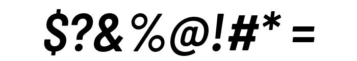 Barlow Semi Condensed SemiBold Italic Font OTHER CHARS