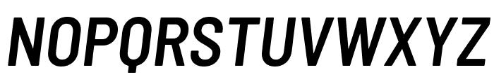 Barlow Semi Condensed SemiBold Italic Font UPPERCASE