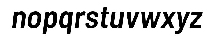 Barlow Semi Condensed SemiBold Italic Font LOWERCASE