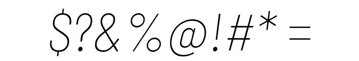Barlow Semi Condensed Thin Italic Font OTHER CHARS