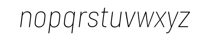 Barlow Semi Condensed Thin Italic Font LOWERCASE