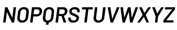 Barlow SemiBold Italic Font UPPERCASE
