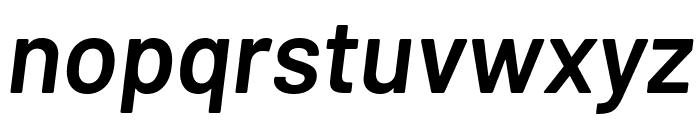 Barlow SemiBold Italic Font LOWERCASE
