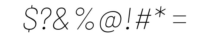 Barlow Thin Italic Font OTHER CHARS