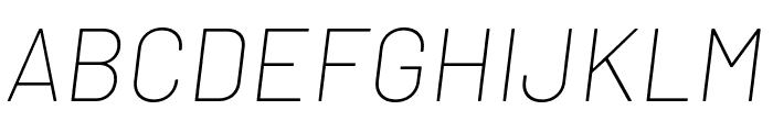 Barlow Thin Italic Font UPPERCASE