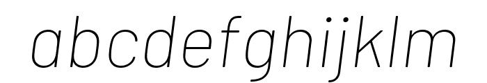 Barlow Thin Italic Font LOWERCASE