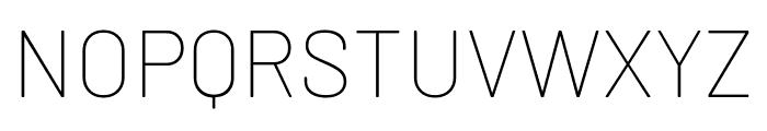 Barlow Thin Font UPPERCASE