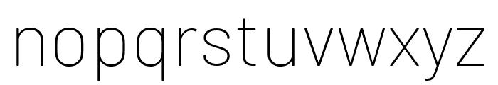 Barlow Thin Font LOWERCASE
