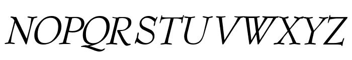 Barnard-Oblique Font UPPERCASE