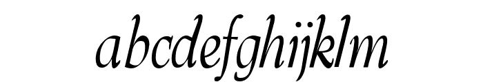 Barnard-Oblique Font LOWERCASE