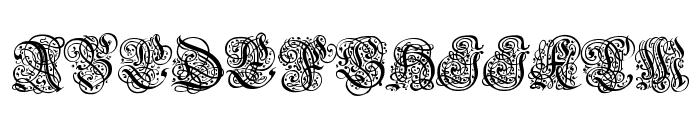 Barock Font UPPERCASE