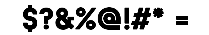 BaronNeueBlack Font OTHER CHARS