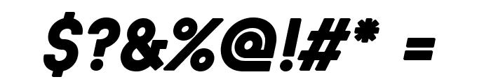 BaronNeueBlackItalic Font OTHER CHARS